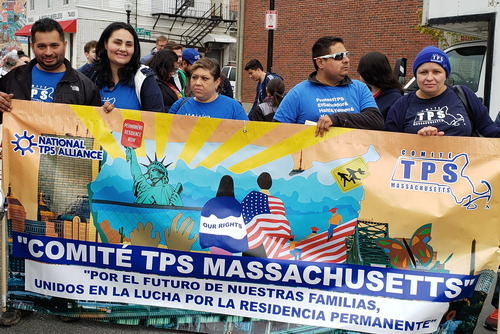 TPS Committee with banner, May Day 2019