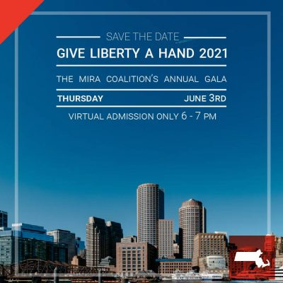 invitation to June GALA with Boston skyline